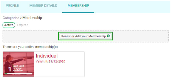Active Memberships
